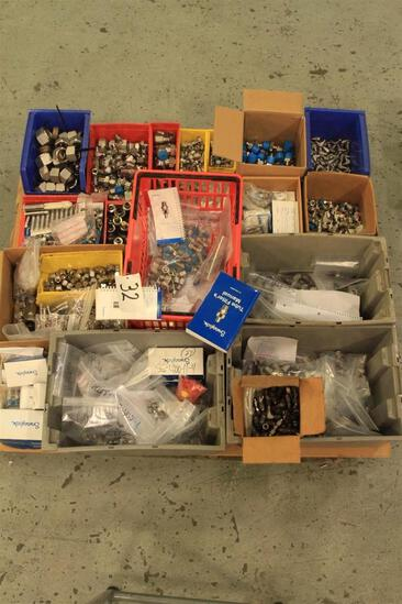 Lot of Swagelok fittings, misc sizes and types, etc