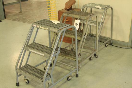 (#3) Cotterman 3 step warehouse ladders