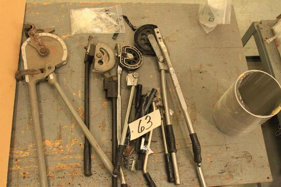 Lot of tube/pipe bending tools