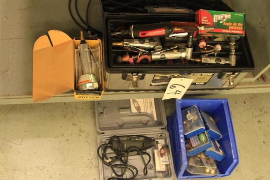angle grinder tools, die grinder tools, Dremel tool w/ assorted bits and sanding implements