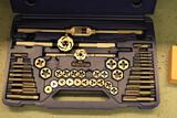 Irwin Metric Tap and Die set (missing 3 pieces); standard tap and die set (missing one piece)