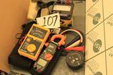 AEMC Megohmmeter Model 1250, KNOPP Model K3 Phase Sequence Indicator, Klein CL200 True RMS Voltage