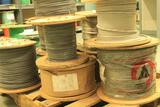 Pallet of 5 spools #8 AWG SIS and ETFE cable; one spool #6 AWG SIS cable; three spools #10 AWG ETFE
