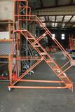 rolling steel warehouse ladder, approximately 6