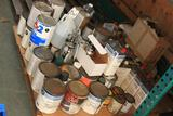 Lot of misc paints and solvents (LOCAL PICK UP ONLY-WILL NOT SHIP)