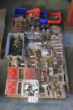 Pallet of valves, pressure switches, releif valves, valve actuators, b-valves, ESD stations, misc