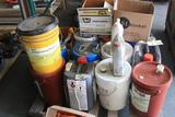 Pallet of hydraulic oils and cleaners (LOCAL PICKUP ONLY-WILL NOT SHIP)