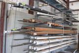 Galvanized cantiveler storage rack - buyer is responsible for disassembly and loading