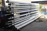 Rack of stainless steel tubing, various diameters and lengths , rack is NOT included