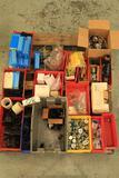 Lot of mufflers, Haskel pump, Haskel repair kits, tubing clamps, etc