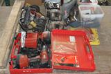 One lot of power tools, including Hilti Battery powered drill, worm drive skill saw, (2) 1/2