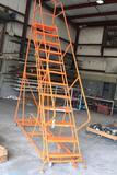 10' steel warehouse ladder LOUISVILLE LADDER COMPANY