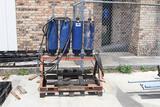 hydraulic accumulators, actuator test stand, steel bottles