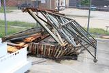 lot of pallet racks and misc shelving material