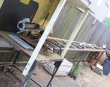 Kalamazoo steel chop saw with rolling feed rack