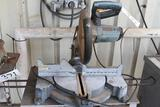 Ryobi mitre saw with table and stool