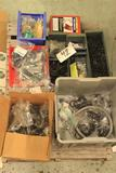 Lot of rubber grommets and 'O' rings, misc parts and connectors