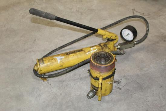 Enerpac Hollow Ram Jack with Hydraulic Pump - 50 Ton Ram