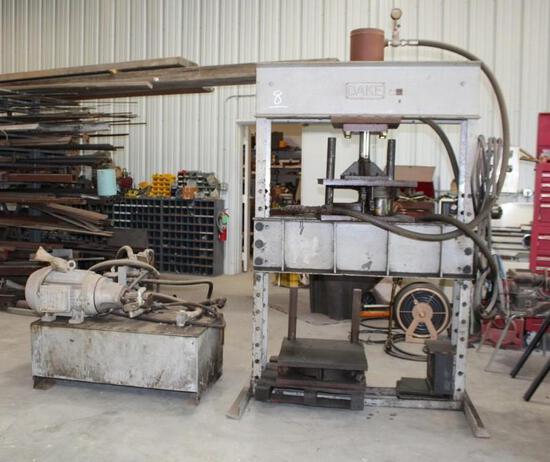Dake 70 Ton Hydraulic Press Model # 70H with Power Unit sn: 779929