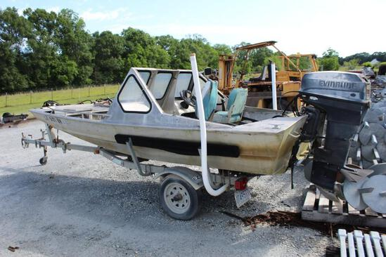 Hanko/Scully Boat w/48HP Evinrude w/Trailer