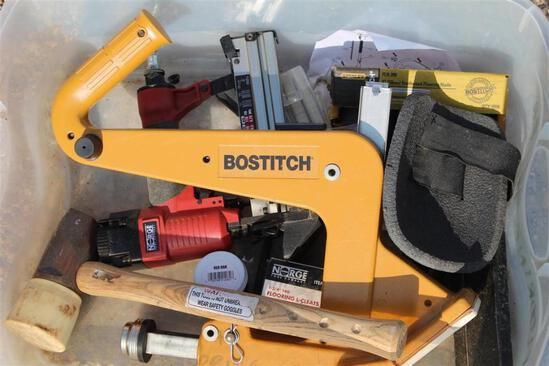 BOX OF FLOORING EQUIPMENT