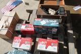 PALLET OF HAND TOOLS AND TOOLBOX