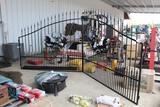 BLACK POWDER COATED ENTRANCE GATE - WILDLIFE