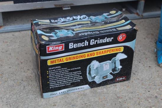 6IN BENCH GRINDER - 3/4HP 110V