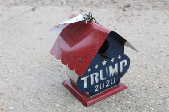 METAL TRUMP 2020 BIRDHOUSE