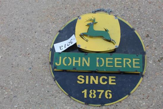 SIGN - JOHN DEERE SINCE AMERICA GREAT
