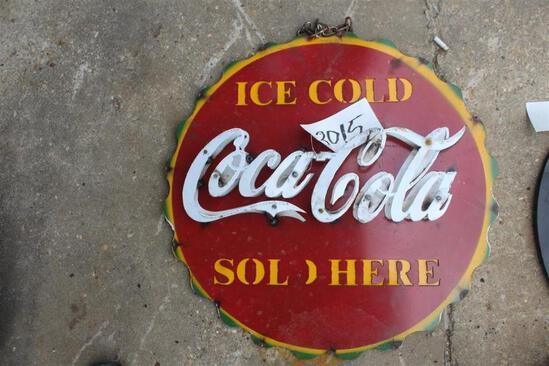 SIGN - ICE COLD COCA COLA