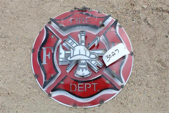 SIGN - FIRE DEPT MOON AND STARS