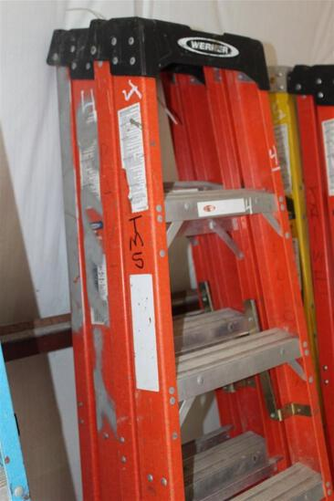 Lot of (2) WERNER 6' STEP LADDERS