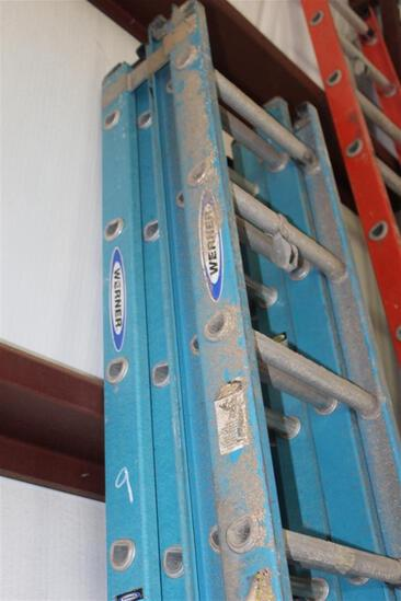 Lot of (2) WERNER 20' EXTENSION LADDERS