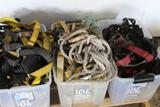 PALLET OF ROPE AND HARNESSES