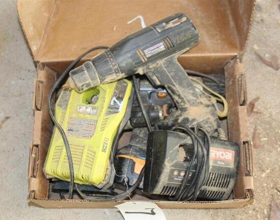 Lot of Battery Powered Drills