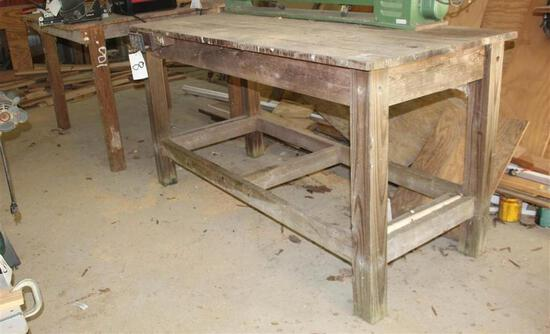 (2) Wood Tables
