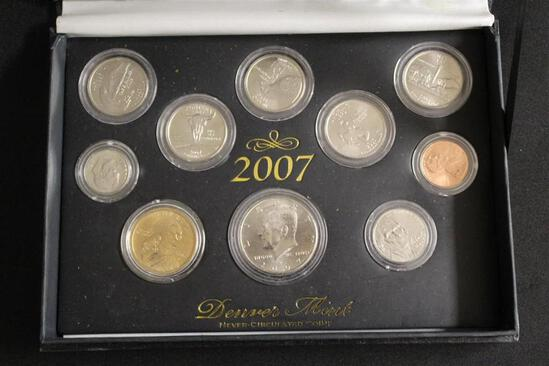 2007 DENVER MINT Never Circulated Coins, Kept in World Reserve Monitary Exchange Case