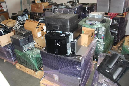 (6) Pallets of Dell & other computers, printers, keyboards, CPU, monitors, wiring, laptops, etc.