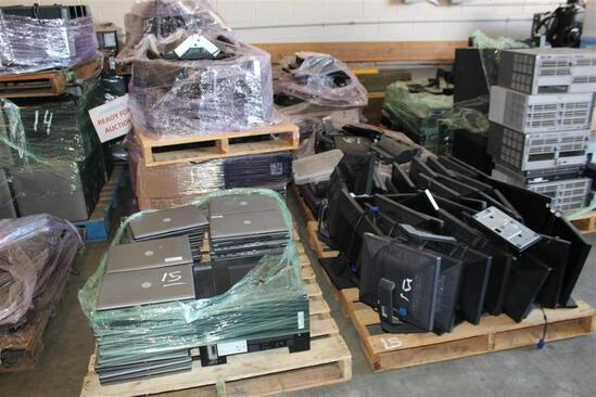 (8) Pallets of Dell & other computers, printers, keyboards, CPU, monitors, wiring, laptops, etc.