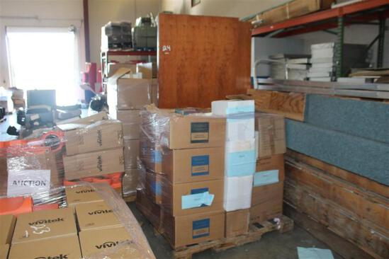 (1) Pallet of Misc text books and 3 wood doors
