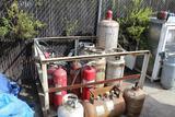 Cage w/ Fire Extinguisher, Forklift Bottles