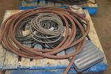 Misc Pallet of Air Hose, Extension Cord's, Scales, Powercords