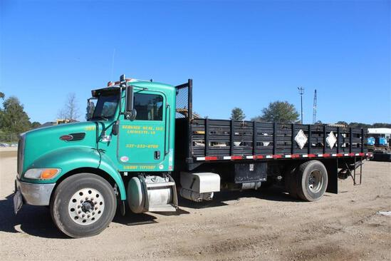 2012 PETERBILT 337 21FT STEEL FLATBED