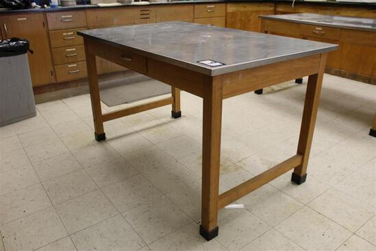 5' x 3' Stainless Steel Top Table w/ Draw