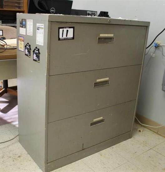3 Drawer Legal Size File Cabinet