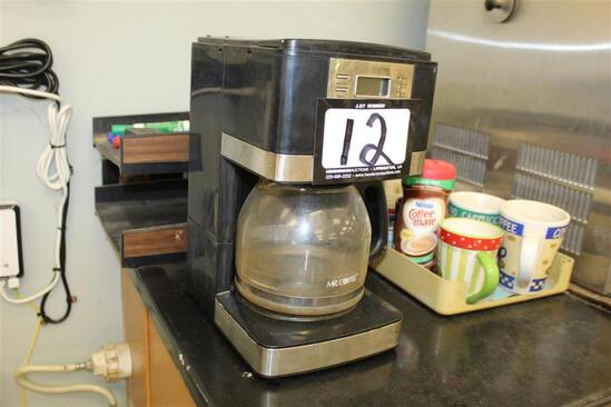Coffee Maker w/ contents of cabinet (No Cabinets)