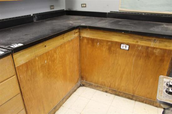"""91"""" x 30""""/ 73"""" x 30"""" L-Shaped Counter Top"""