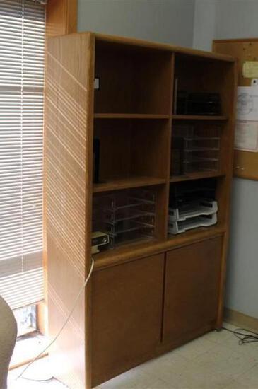 Wood Office Cabinet Shelves