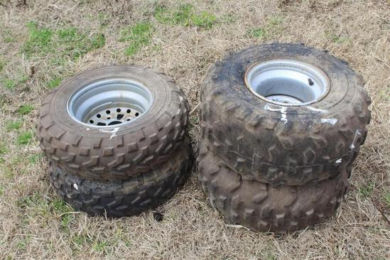 Set of ATV 4 Wheeler Tires
